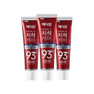 【中文标】韩国麦迪安MEDIAN 93%牙膏 美白固齿 去烟渍护龈清新 红色120g