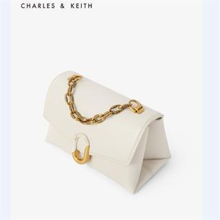 CHARLES&KEITH 2020新品小ck女士拼接扣饰手提单肩包 (下单备注颜色)