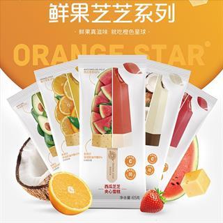 【李佳琪推荐】橙色星球雪糕水果芝士夹心冰淇淋雪糕5种口味/15支