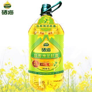 硒海物理压榨纯菜籽油5L/桶 非转基因食用油