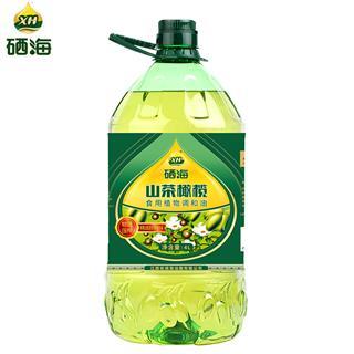 硒海山茶籽橄榄调和油4L/桶 非转基因食用油