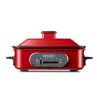 英国摩飞MR9088多功能料理锅网红电烤锅烤炉一体炒蒸煮煎火锅 高贵红
